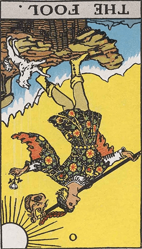 The Fool Reversed Tarot Card Meaninigs