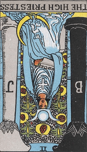 The High Priestess Reversed Tarot Card Meaninigs