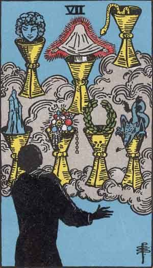 Seven of Cups Tarot Card Meanings - All Explained HERE!