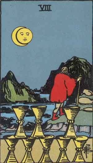 Eight of Cups Tarot Card Meanings - All Explained HERE!