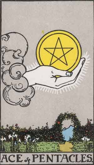 Tarot card - The Ace of Pentacles