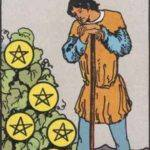 Tarot card - The Seven of Pentacles