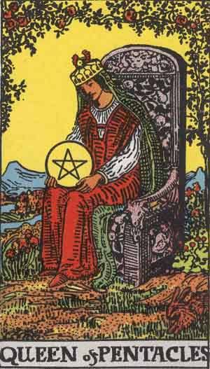 Tarot card - The Queen of Pentacles