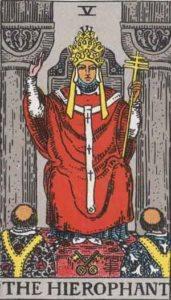 The Hierophant Tarot Card Tarot card