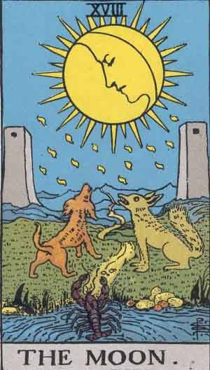 Tarot card - The Moon