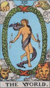 Tarot card - The World