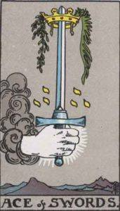 Tarot card - The Ace of Swords