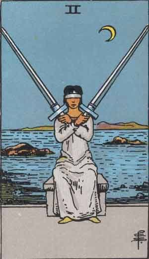 Tarot card - The Two of Swords