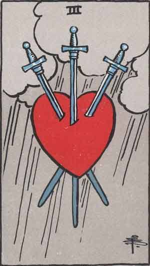 Tarot card - The Three of Swords
