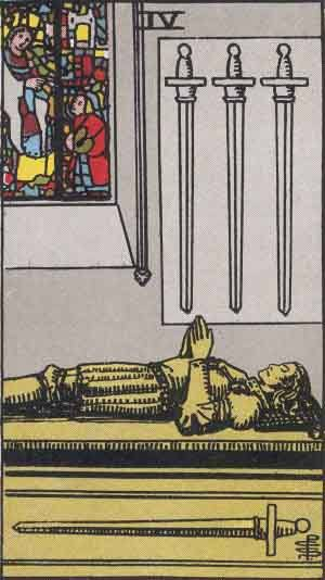 Tarot card - The Four of Swords