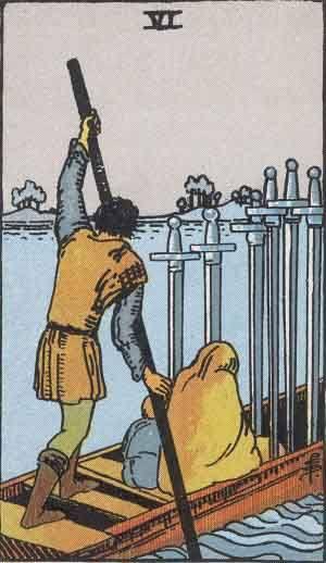 Tarot card - The Six of Swords