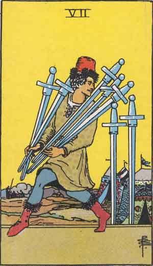 Tarot card - The Seven of Swords