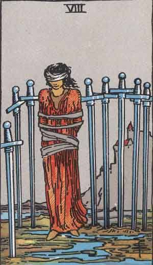 Tarot card - The Eight of Swords