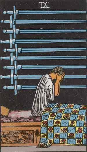Tarot card - The Nine of Swords