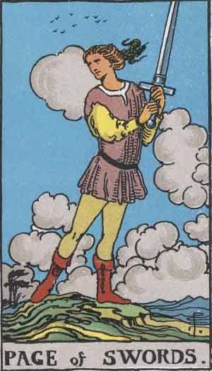 Tarot card - The Page of Swords