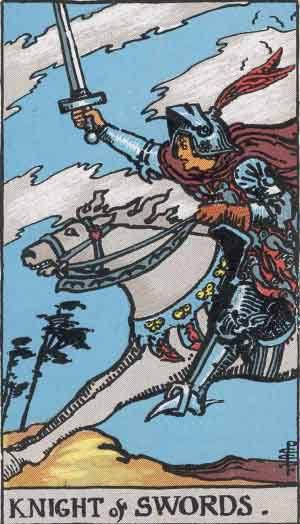 Tarot card - The Knight of Swords