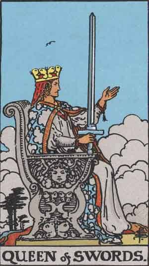 Tarot card - The Queen of Swords