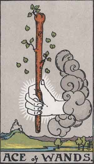 Tarot card - The Ace of Wands