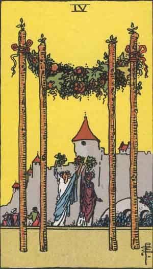 Tarot card - The Four of Wands