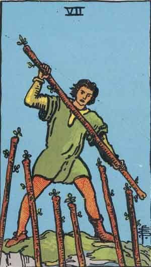 Tarot card - The Seven of Wands