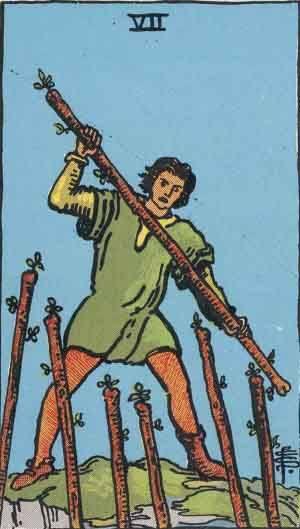 Tarot card - The Seven of Wands