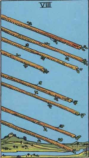 Tarot card - The Eight of Wands