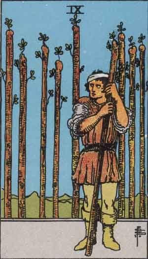 Tarot card - The Nine of Wands