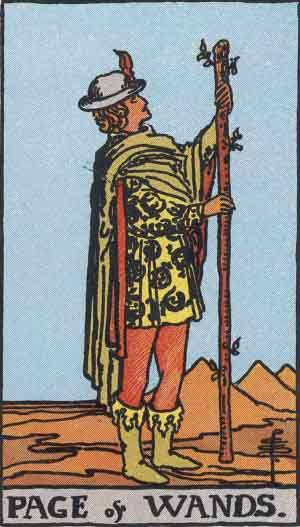 Tarot card - The Page of Wands