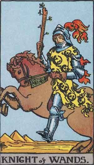Tarot card - The Knight of Wands