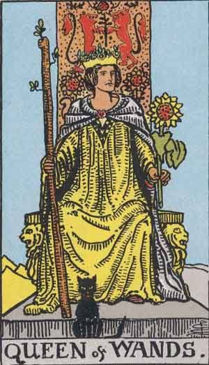 Queen of Wands Tarot Card Meanings - All Explained HERE!