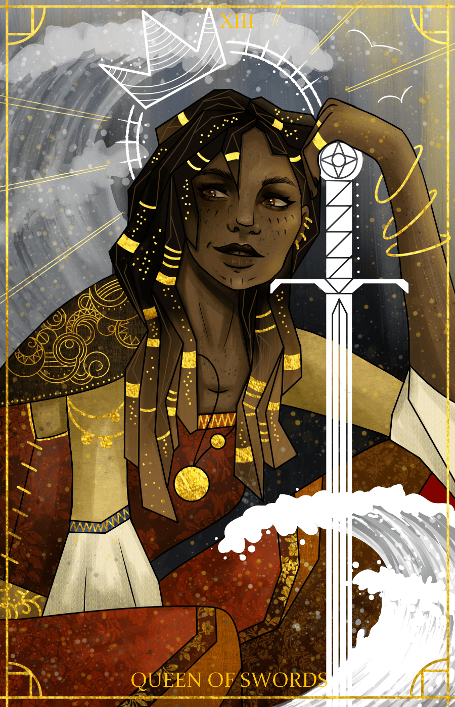 The Queen of Swords Commision piece