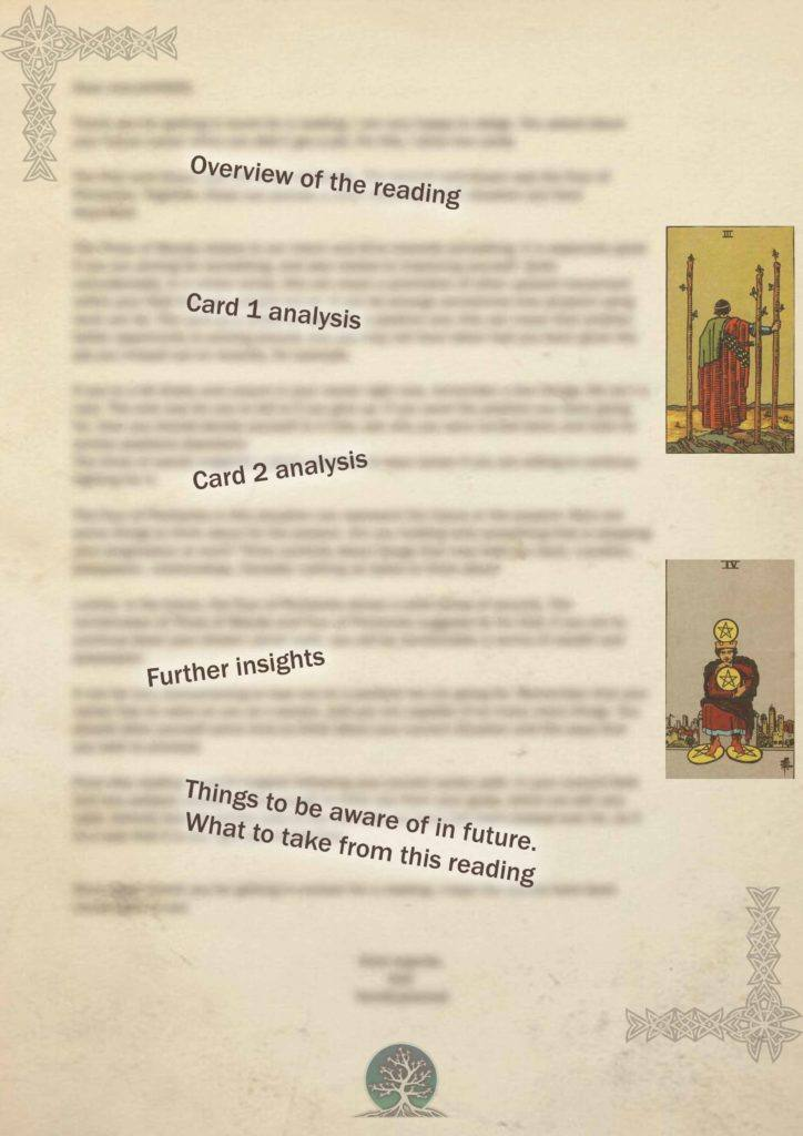 tarot card report